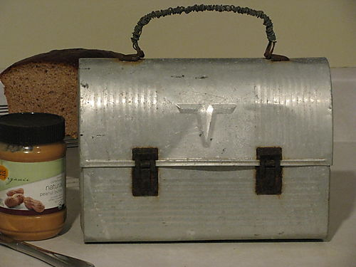 Yard sale aluminum lunchbox