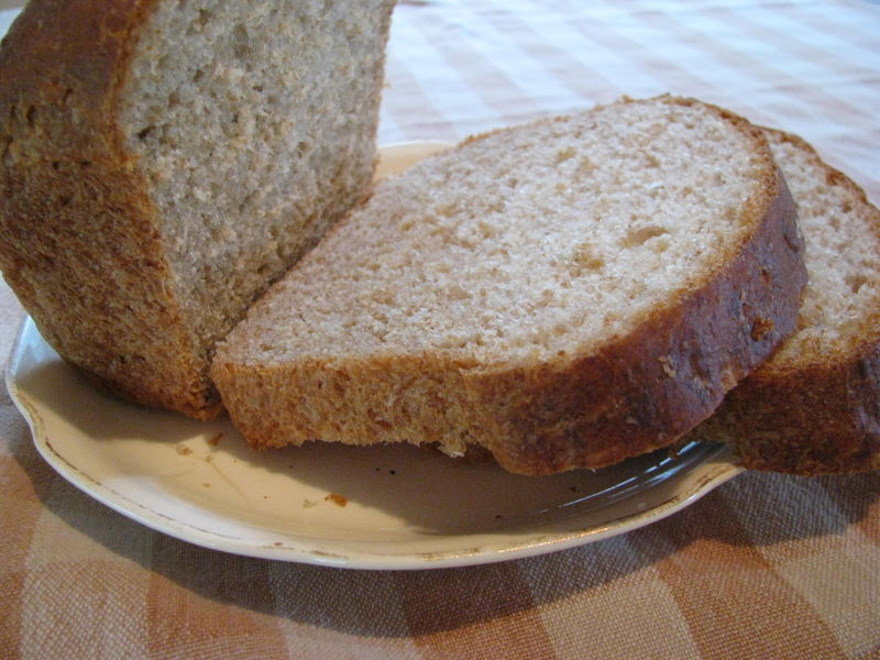 Honey whole wheat oatmeal bread