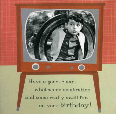 Leave it to beaver b-day card