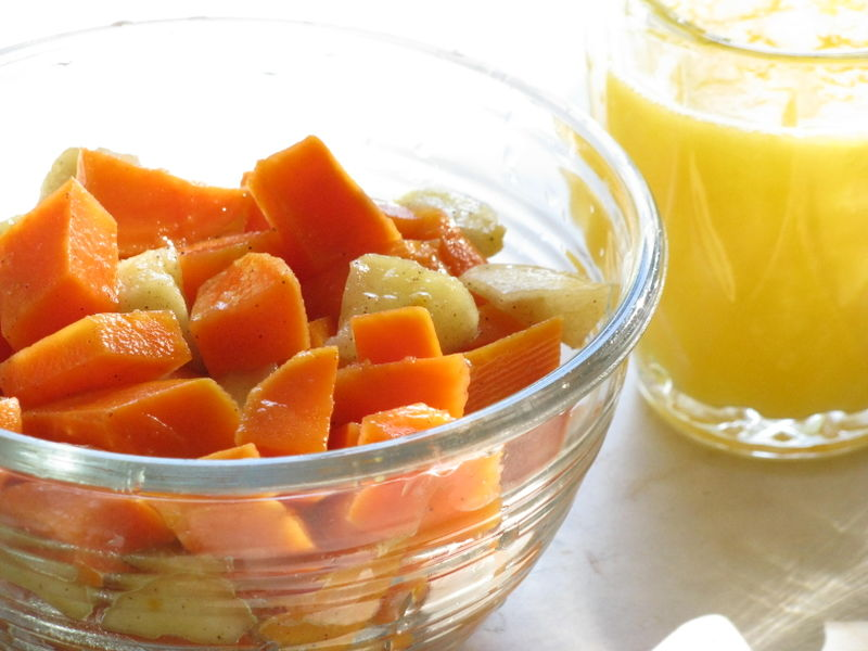 Sweet potato-apple saute