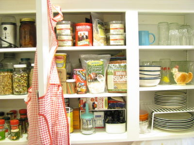 After cupboard organization