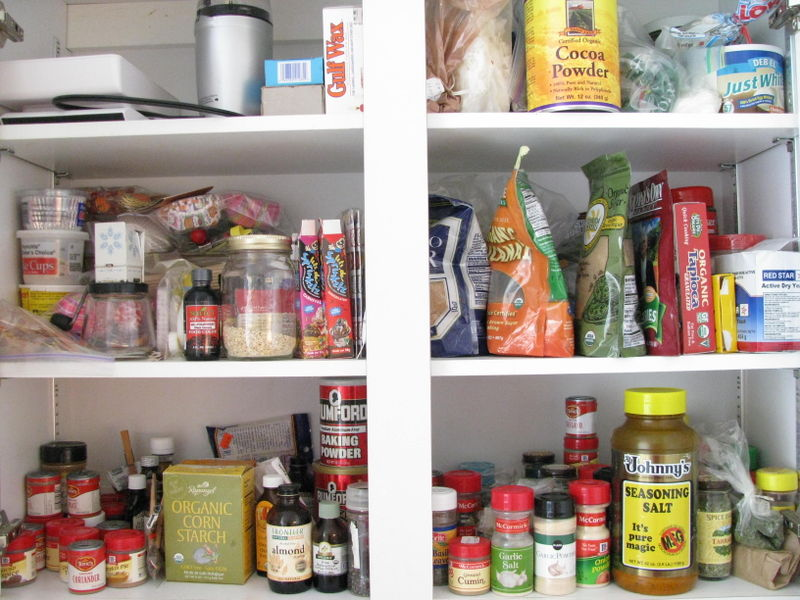 Before cupboard organization