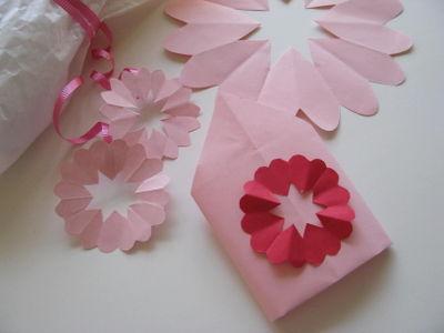 Paper heart doilies