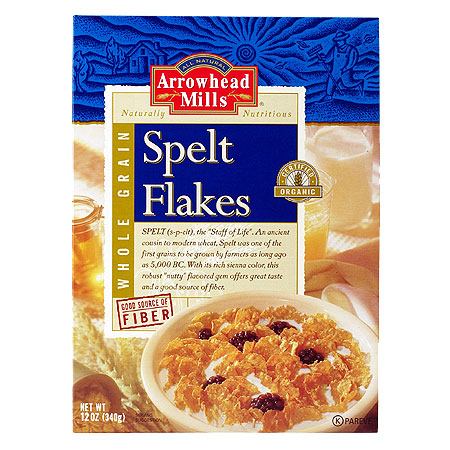 Spelt flakes cereal