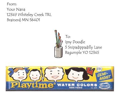 Playtime watercolors postcard