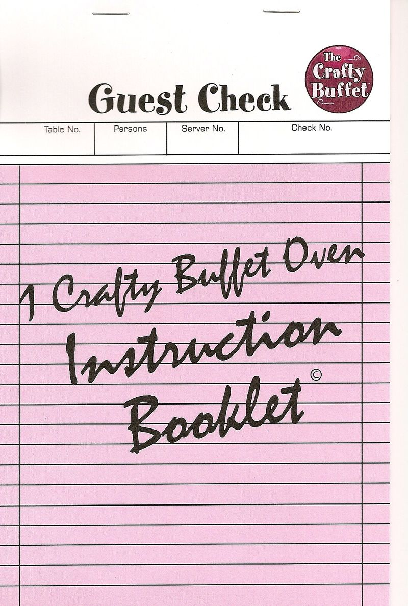 Cardboard oven instruction book