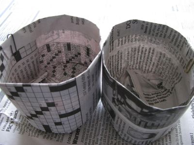 Newspaper pots