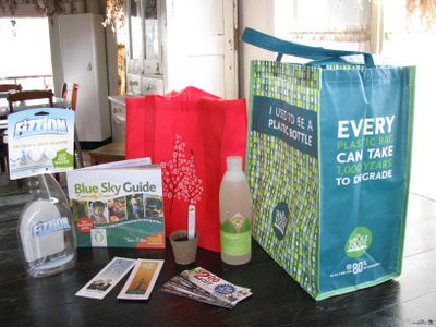 Living green expo goodies