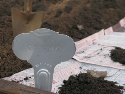 Plant markers engraved