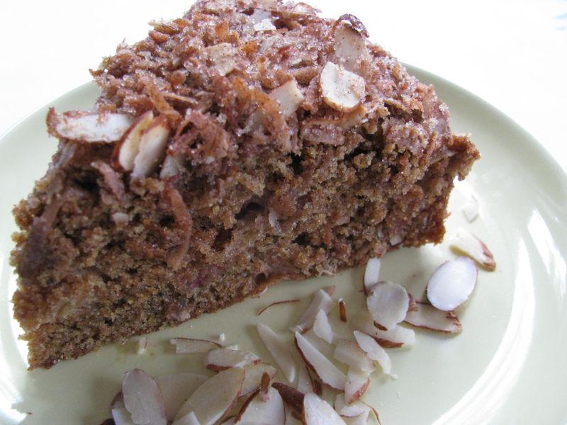 Rhubarb almond coffeecake