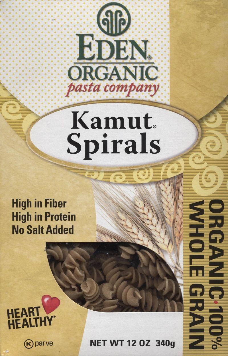 Eden organic kamut spirals