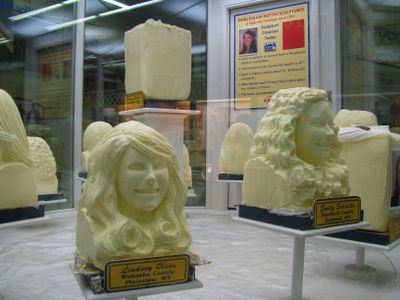 Princess kay butter sculptures