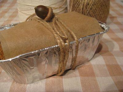 Zucchini bread gift wrapped