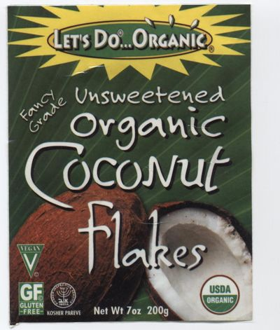 Coconut flakes label