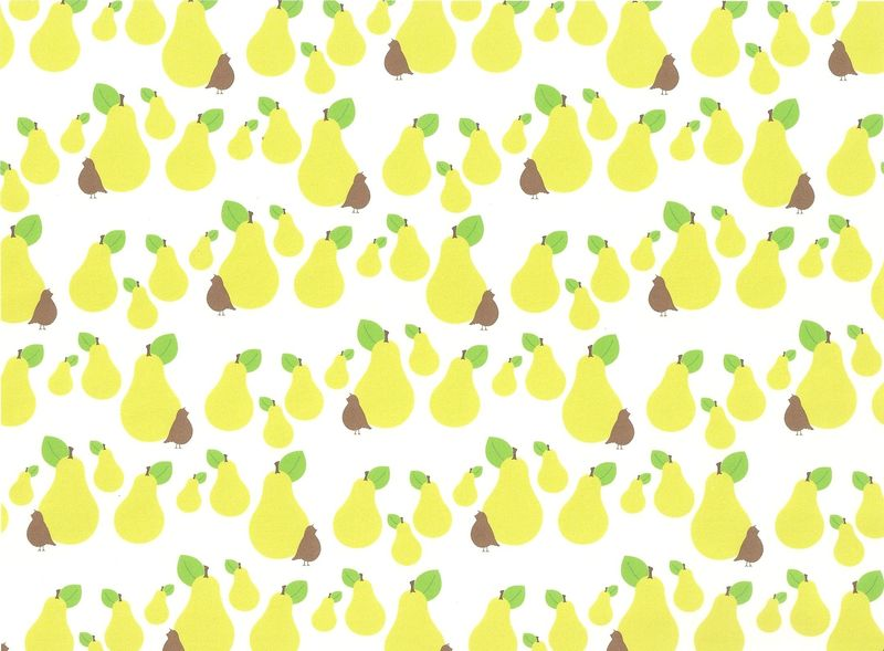 Patridge pear wrapping
