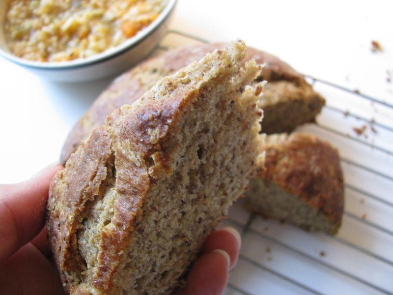 Flax soda bread wedge
