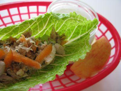 Walnut dill tuna salad