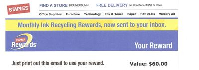 Staples reward certificate2