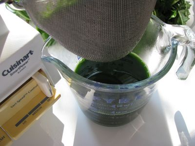 Green juice strained
