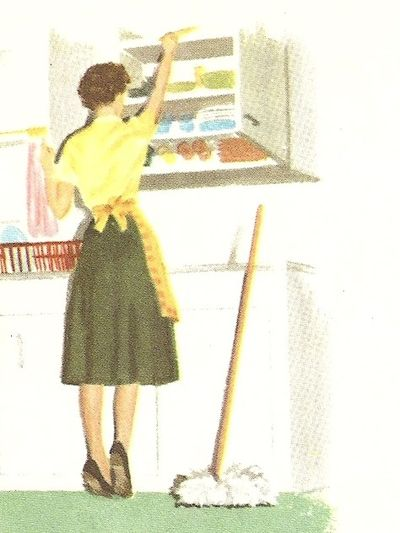 Dick and jane mom cleaning1