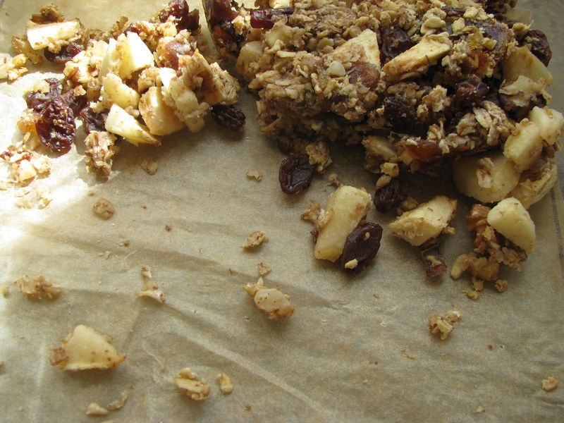 Applenut flax bars