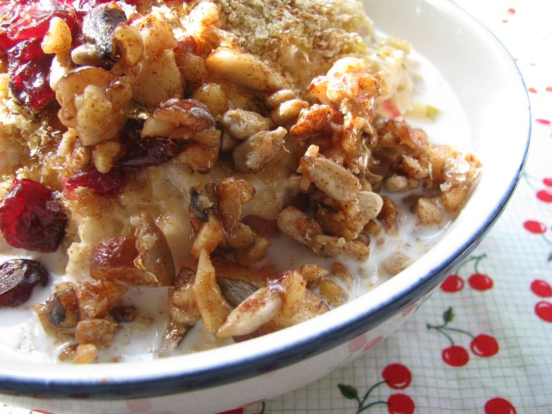 Maple crunch oatmeal topping