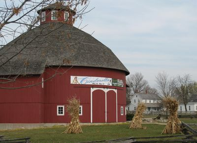 Round barn theater exterior