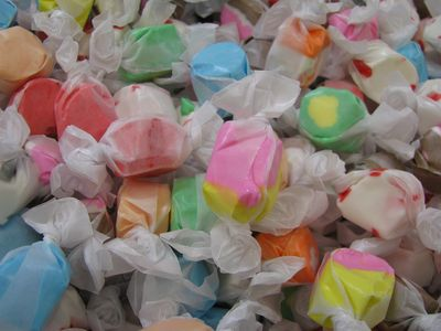 Salt water taffy multicolored