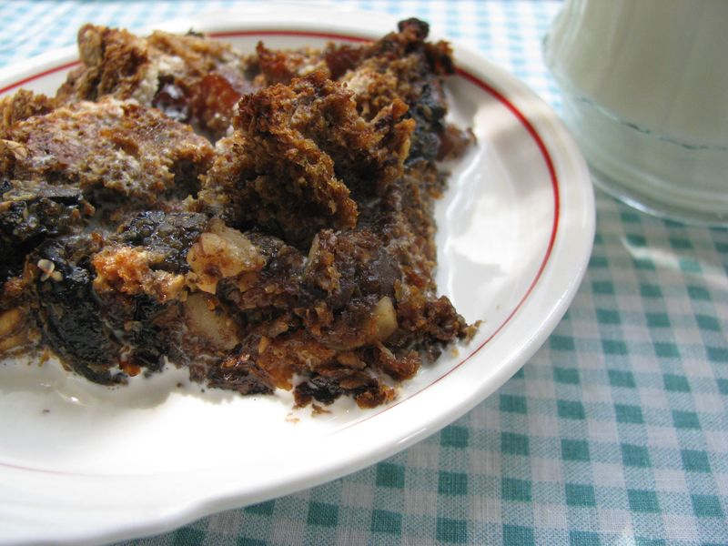 Dried fruit breakfast bread pudding