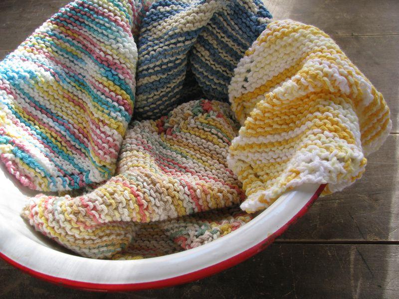 Crocheted dishcloths fall 2010