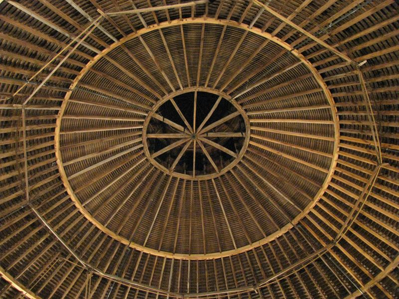 Round barn theater interior