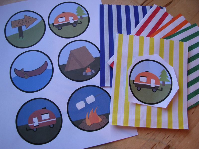 Camping theme goodie bags