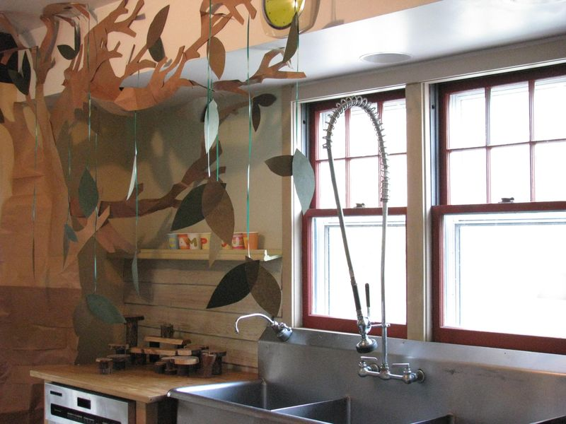 Woodland forest kitchen
