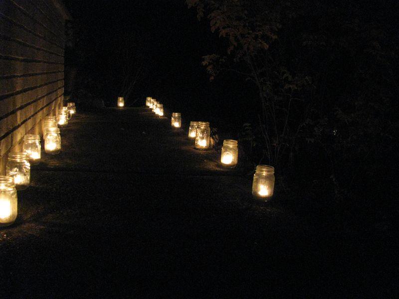 Lighted sidewalk