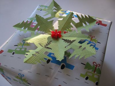 Tree snowflake package topper