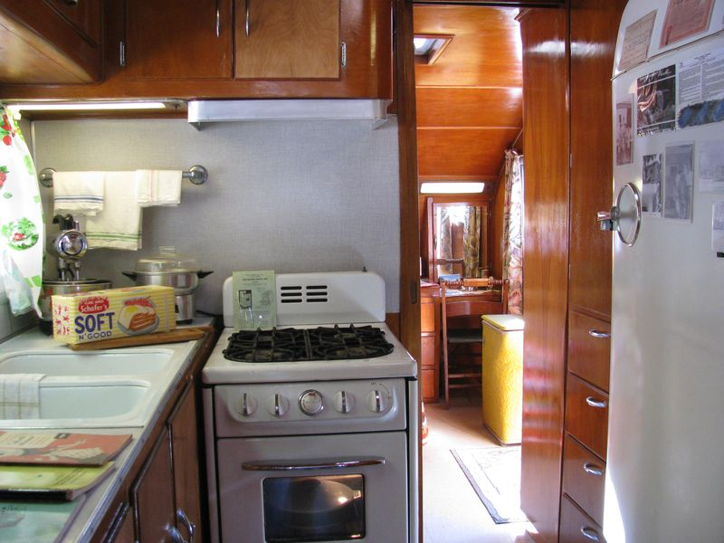 1950 spartanette kitchen into bedroom