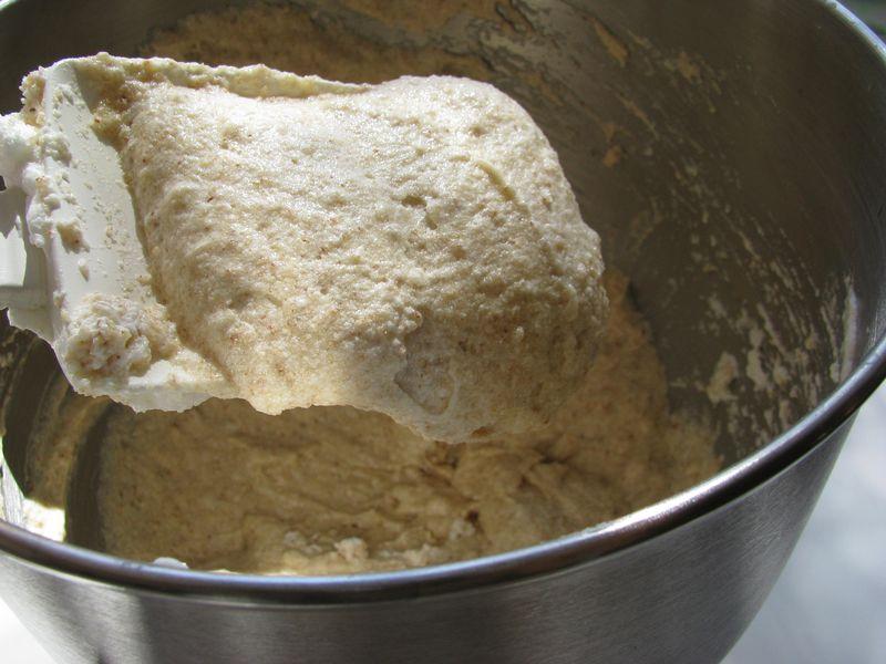 Almond cake batter