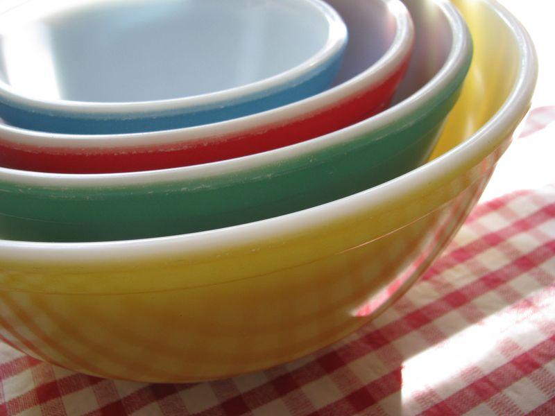 Pryrex mixing bowls