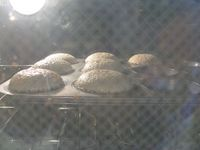 Almond cupcakes baking