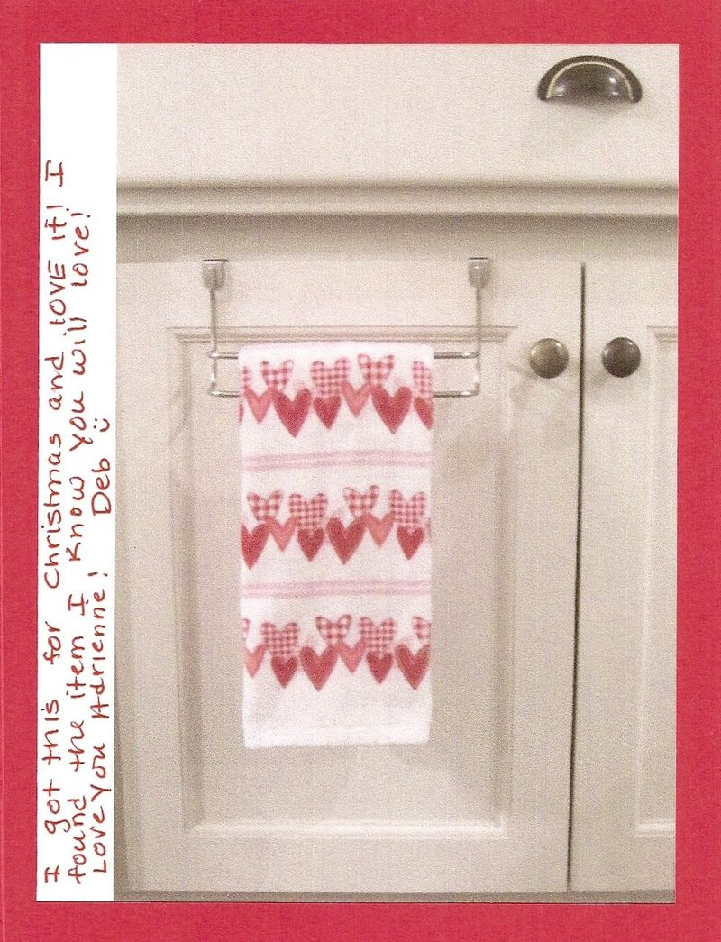 Debs over cabinet towel bar
