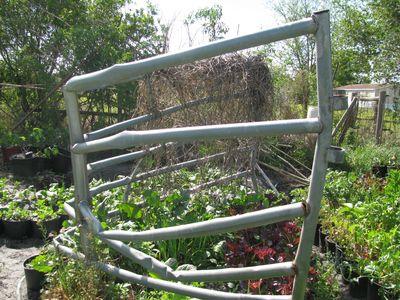 Mangled fence enclosure