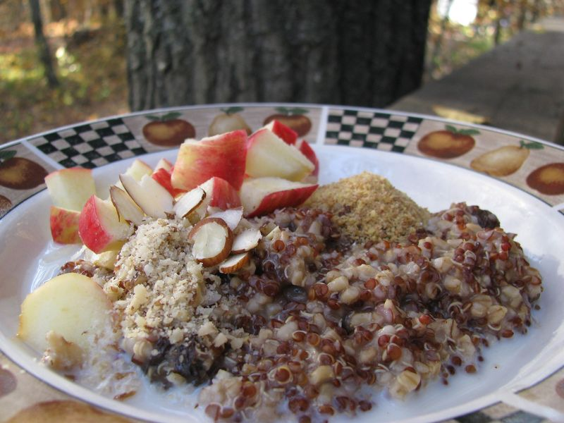 Quinoa and steel cut oats