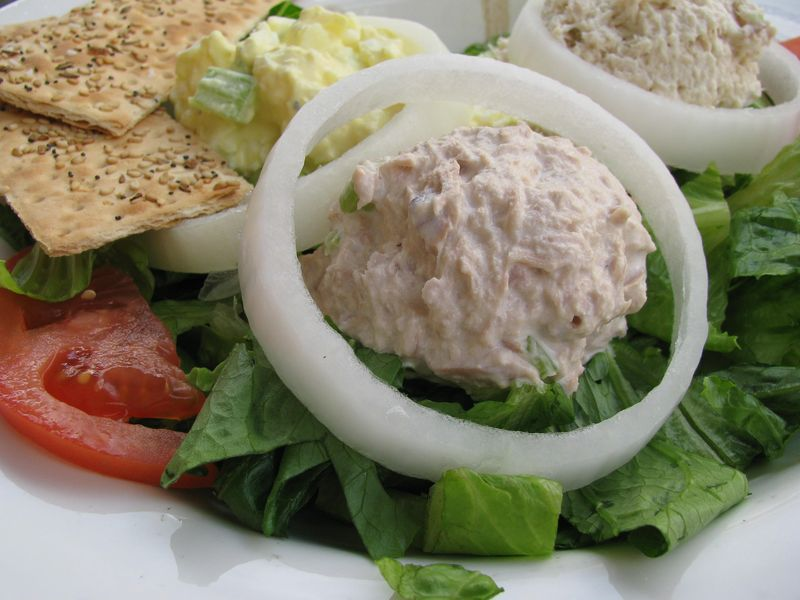 Blue eyed daisy tuna salad plate