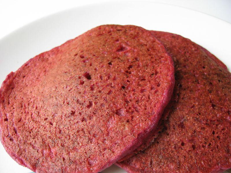 Quinoa beet pancakes