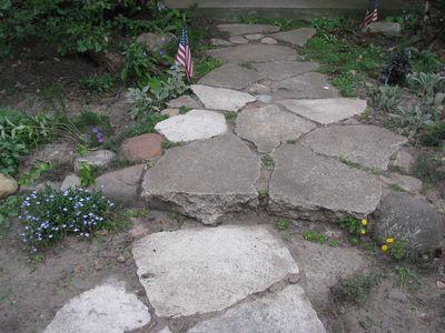 Stone walkway closeup