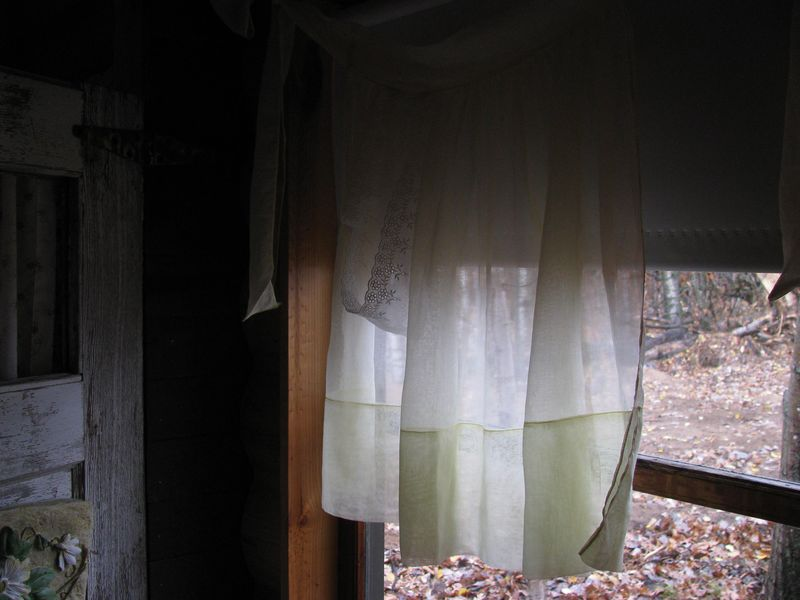 Draped eyelet pocket party apron curtain