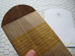 Natural sweet bee envelope back