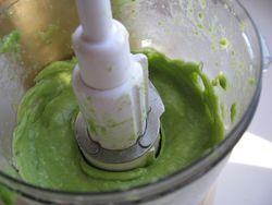 Avocado puree for ice cream
