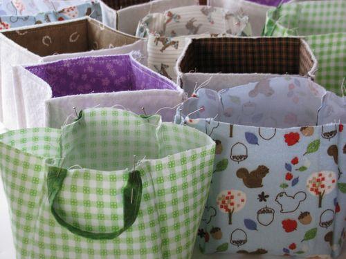 Fabric basket mass production