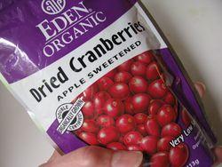 Dried cranberries apple sweetened